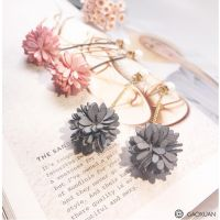 一件代发韩国气质甜美花朵耳环 长款流苏个性百搭潮耳坠时尚耳钉