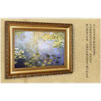 定做制作欧式相框 挂墙 实木画框 金色20 24 30 36寸 木制油画画框 【弘艺相框】