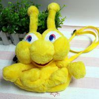 供应毛绒玩具背包 可爱蜗牛儿童背包 学校活动礼品来图打样