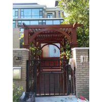 木八八花园木拱门防腐木入户门楼阳台架门楼定制加工设计施工一站式服务13761111651