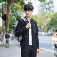 2017秋季新款男式韩版夹克 青年男士时尚棒球领外套 男款潮流外套