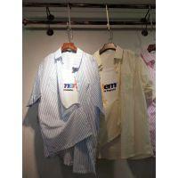 东莞服装批发厂家直销女装时尚上衣批发蕾丝雪纺衫库存批发服装货源