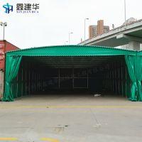 苏州户外大型雨棚布 活动仓库篷推拉 电动伸缩蓬厂家定做