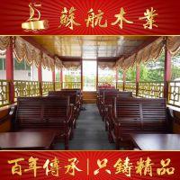 苏航厂家定制14米大型餐饮船/双层画舫船/电动观光船/仿古木船出售