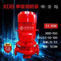 冠桓 XBD1.25/3.5-50-100 ISG单级管道离心水泵 XBD立式消防泵增压稳压泵消防栓