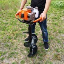 志成大棚果园挖坑机 便携式园林植树挖坑机 汽油小型地钻机使用说明