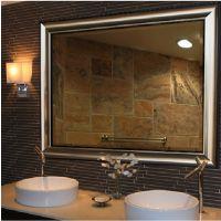 现代卫生间/酒店卫浴浴室镜子 长方欧式镜子 厂家定制香槟色挂镜 PS高分子