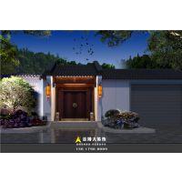 郑州四合院别墅装修公司-新中式四合院别墅装修设计图