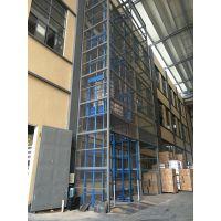 高鐵站運貨平台 導軌鏈條式升降機 固定剪叉式升降貨梯 电动液压升降台 定制厂家