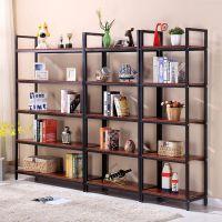 创意钢木书架简易铁艺货架多层置物架家居客厅架子展示架厂家批发