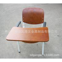 GW-C79学生课桌椅定做|可折叠培训椅全拆装金属单人位桌椅厂家批发