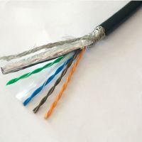 双绞双屏蔽工业以太网电缆 绿/橙/黑色4/8芯24AWG拖链网线现货
