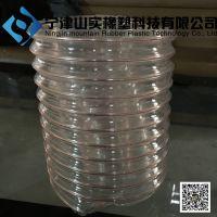 pu钢丝软管透明耐磨,pu风管钢丝排气伸缩管,透明伸缩通风管,通风排气管