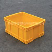 大量批必500-250黄色周转箱泰州宿迁塑料箱昆山江阴周转箱