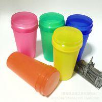 广告塑料杯 PP环保创意圆形螺旋拧盖杯子 印LOGO礼品果汁杯水杯