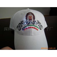 工厂定制纯棉绣花发光国旗帽发光棒球帽光纤发光字母帽发光灯帽子