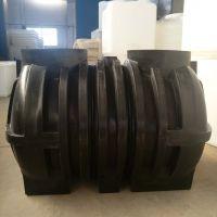 华社厂家直销立亚1.5立方pe塑料三格式滚塑化粪池 旱厕改造隔断化粪桶