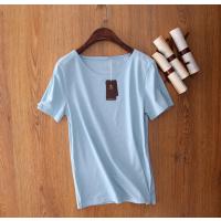 工厂货源 大码印花条纹棉T恤宽松圆领短袖上衣女装夏装新品处理