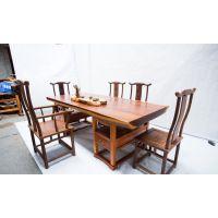 有家木业 奥坎大板休闲茶桌圆木墩 非洲花梨木办公家具实木原木现货