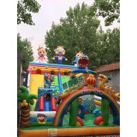 猪猪侠滑梯 爆款猪猪侠充气城堡 游泳池 沙池PVC充气玩具
