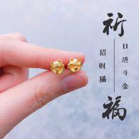 荣耀珠宝18k招财猫耳钉