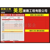 合肥装饰公司施工现场管理制度进度表工地一览表告示牌施工规定守则表