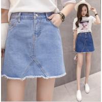 2018贵州春夏季新款韩版高腰显瘦小清新牛仔短裙包臀女装半身裙 实拍
