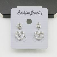 韩版镶钻耳钉 时尚流行镀银套装饰品个性百搭耳饰 厂家批发货源