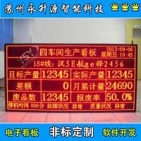 苏州永升源定制报警P3.75车间看板 生产管理看板 实际产量 废品率计数计件产量状态呼叫