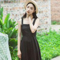 2017夏季新款性感显瘦波点吊带连衣裙
