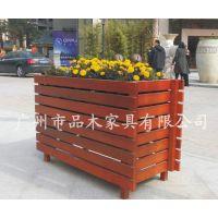 供应福建福州街道树箱,广场地产景区木制组合花箱