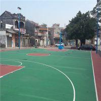 矽PU籃球場 矽PU球場地坪鋪設 珠海3MM矽PU 塑膠球場地面施工