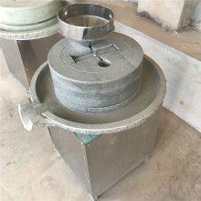 热销宏瑞石磨芝麻酱机专业供应电动石磨豆浆机超市展台米浆机