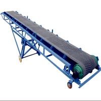 搬运水泥化肥装车用爬坡输送机 输送机定做厂家KL