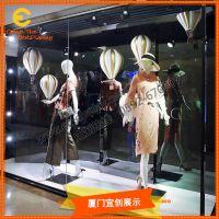 2019春夏橱窗道具制作厂家 仿真热气球装饰 玻璃钢道具