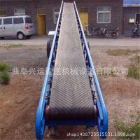 桶装水用升降式格挡输送机 爬坡式装车输送机曲阜生产厂家