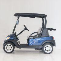 卓越深藍色4座高爾夫球車型號為a1s2+2,一排超前一排朝后
