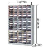 上海tanko天钢CDH-575透明小抽屉零件柜75抽分类柜附标签
