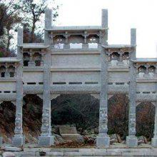 〈金玉石材〉石牌坊多少钱 河南牌坊大门金玉雕刻厂品质