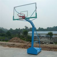 阳江员工专用埋地透明板篮球架 钢化铝合金边篮球板 柏克生产篮球架