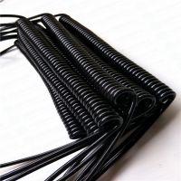 东莞厂家销售PU弹簧线 工程车螺旋线 带插头弹性体线 生产订做