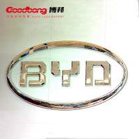 比亚迪圆形车标 PVC汽车门头 亚克力贴膜车标订制厂家 批量价格