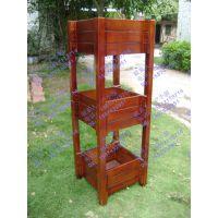 户外铁艺花箱,小区木制吊篮,楼盘组合花箱,柚木花架