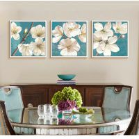 小清新现代客厅装饰画简约卧室床头挂画餐厅沙发三联画壁画花卉画