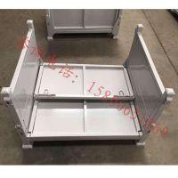 1200*1000*800mm可折叠可堆垛铁板箱金属周转箱