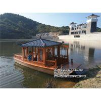 山西福建哪里有供应6米木质电动船旅游景点码头 休闲观光船 画舫住宿船房船 手划仿古摇橹木船