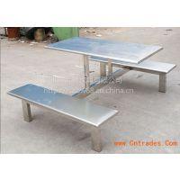 不锈钢连体餐桌椅