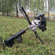 新型苗木种植挖坑机手提式四冲程挖坑机多功能电线杆打眼机志成