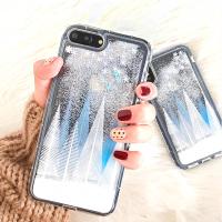 雪花流沙壳iPhoneX手机壳 苹果7plus/6s/8创意个性全包女款日韩潮