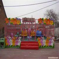 淮南儿童主题游乐场炫彩设备电动轨道火车六臂十二座欢乐喷球车